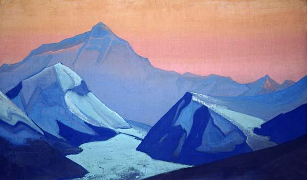 Н.К. Рерих. Гималаи. Эверест. 1938